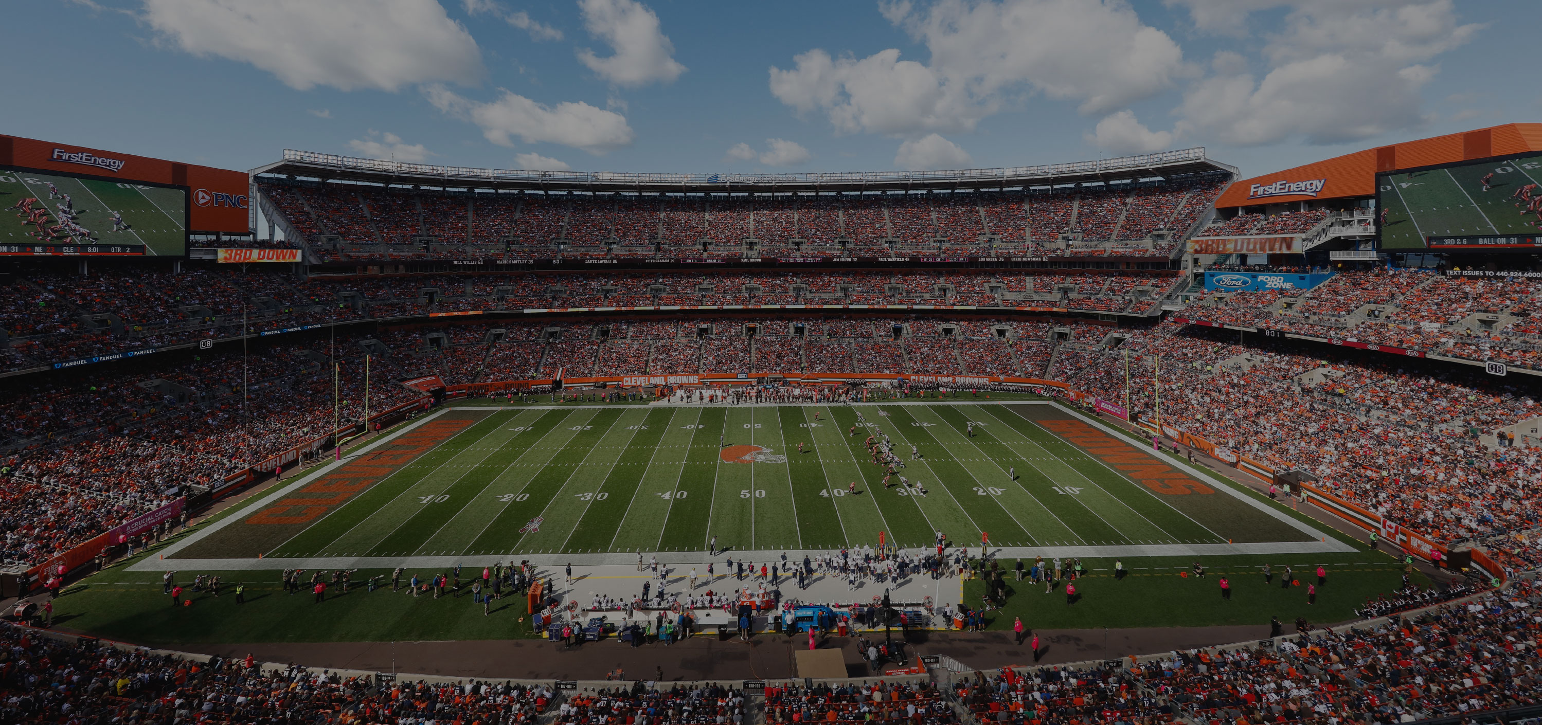FirstEnergy Stadium in Cleveland, OH - Home of the Cleveland Browns